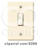 Standard Household Rocker Light Switch