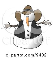 Snowman Cowboy Clipart Illustration by djart