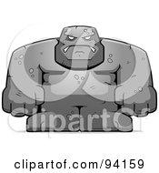 Royalty Free RF Clipart Illustration Of A Bulky Stone Golem Man