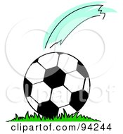 Gust Of Wind Over A Moving Soccer Ball