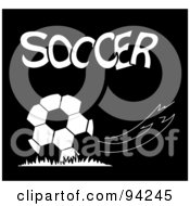 White Text Over A Breeze And Soccer Ball On Black