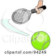 Hand Swatting At A Tennis Ball