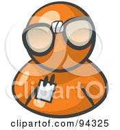 Royalty Free RF Clipart Illustration Of An Orange Man Wearing Large Nerdy Glasses by Leo Blanchette