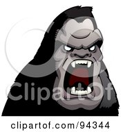 Royalty Free RF Clipart Illustration Of A Furious Ape Screaming