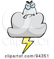 Royalty Free RF Clipart Illustration Of A Grumpy Cloud Character