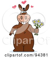 Romantic Donkey Standing With Flowers by Cory Thoman