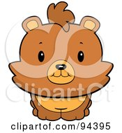 Royalty Free RF Clipart Illustration Of A Baby Bear Smiling Upwards