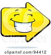 Royalty Free RF Clipart Illustration Of A Happy Grinning Arrow Face by Cory Thoman