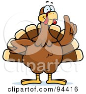 Royalty Free RF Clipart Illustration Of A Turkey Bird With An Idea
