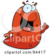 Royalty Free RF Clipart Illustration Of A Red Slug Talking by Cory Thoman