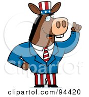 Royalty Free RF Clipart Illustration Of An American Donkey Politician by Cory Thoman