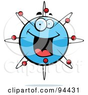 Royalty Free RF Clipart Illustration Of A Happy Smiling Atom Face by Cory Thoman