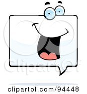 Royalty Free RF Clipart Illustration Of A Happy Word Balloon Face