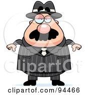 Plump Mobster Man Facing Front