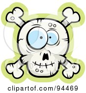Royalty Free RF Clipart Illustration Of A Silly Faced Skull And Crossbones