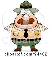 Royalty Free RF Clipart Illustration Of A Plump Male Ranger Facing Front by Cory Thoman