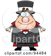 Royalty Free RF Clipart Illustration Of A Plump Magician Standing And Facing Front