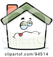 Royalty Free RF Clipart Illustration Of A Sick Home Face