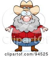 Plump Prospector Man Facing Front
