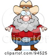 Royalty Free RF Clipart Illustration Of A Plump Prospector Man Facing Front by Cory Thoman