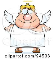 Royalty Free RF Clipart Illustration Of A Plump Male Angel