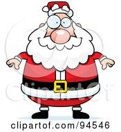 Plump Santa Standing Front
