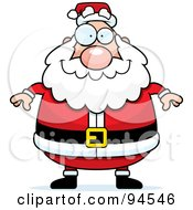Royalty Free RF Clipart Illustration Of A Plump Santa Standing Front