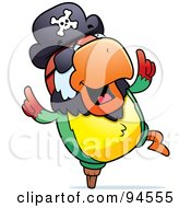 Royalty Free RF Clipart Illustration Of A Dancing Pirate Porrot by Cory Thoman