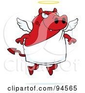 Royalty Free RF Clipart Illustration Of A Devil Angel by Cory Thoman