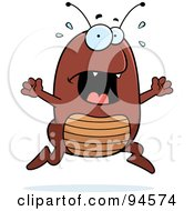 Royalty Free RF Clipart Illustration Of A Scared Flea Panicking by Cory Thoman