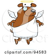 Royalty Free RF Clipart Illustration Of A Floating Angel Dog