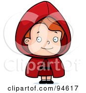 Royalty Free RF Clipart Illustration Of A Little Dirty Blond Red Riding Hood Girl
