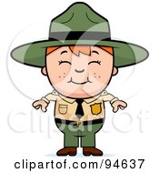 Royalty Free RF Clipart Illustration Of A Little Forest Ranger Boy by Cory Thoman