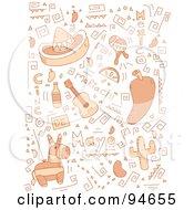 Collage Of Cinco De Mayo Doodles