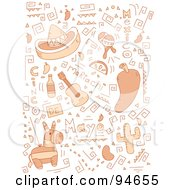 Royalty Free RF Clipart Illustration Of A Collage Of Cinco De Mayo Doodles