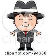 Little Mafia Boy In A Suit