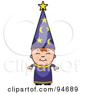 Royalty Free RF Clipart Illustration Of A Little Wizard Boy by Cory Thoman