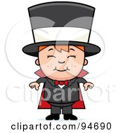 Royalty Free RF Clipart Illustration Of A Cute Happy Magician by Cory Thoman