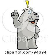 Bulldog Exclaiming An Idea by Cory Thoman