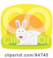 Royalty Free RF Clipart Illustration Of A Square Bodied White Hare by Qiun