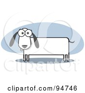 Royalty Free RF Clipart Illustration Of A Square Bodied Doxie Dog
