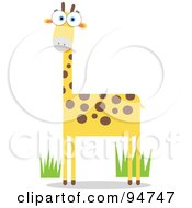 Royalty Free RF Clipart Illustration Of A Square Bodied Wild Giraffe by Qiun #COLLC94747-0141