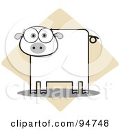 Royalty Free RF Clipart Illustration Of A Square Bodied Piggy by Qiun