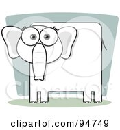 Royalty Free RF Clipart Illustration Of A Square Bodied Pachyderm by Qiun