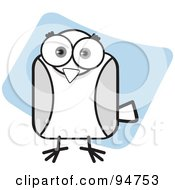 Royalty Free RF Clipart Illustration Of A Square Bodied Bird
