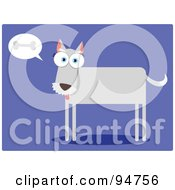 Royalty Free RF Clipart Illustration Of A Square Bodied Dog Thinking Of A Bone by Qiun