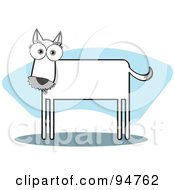 Royalty Free RF Clipart Illustration Of A Square Bodied Terrier Dog by Qiun