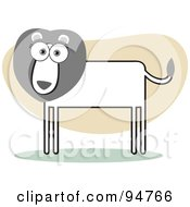 Royalty Free RF Clipart Illustration Of A Square Bodied Male Lion by Qiun