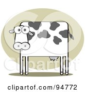 Royalty Free RF Clipart Illustration Of A Square Bodied Dairy Cow by Qiun