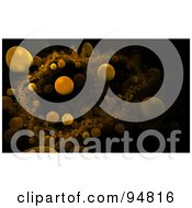 Royalty Free RF Clipart Illustration Of A Background Of Orange Microscopic Orbs Over Black